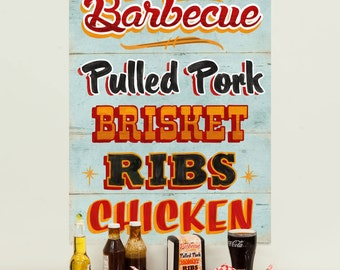 World Famous Barbecue Food Wall Decal - #67022