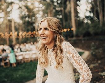 Bridal Separates , Lace top , Camisole , Bridesmaids top ,chiffon skirt , Wedding Separate , Lace Top ,Crop top dress / Wedding Dress