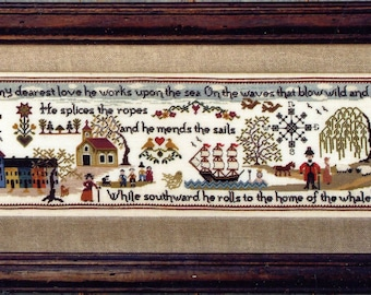 The Sailor's Wife Sampler by The Sampler Company Counted Cross Stitch Pattern/Chart