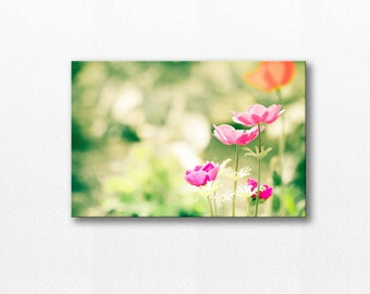 flower canvas art flower photography canvas print 12x12 24x36 fine art photography canvas wrap flower photography spring pink lime large