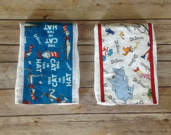 Dr Seuss baby gift, Dr Seuss burp pad, Baby gift, Unique burp pad, Cat in the Hat baby gift