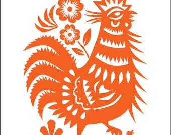 House Warming Gift, Rooster Decor, Chicken Art, Housewarming, Kitchen Art