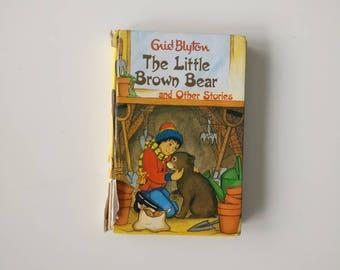 Enid Blyton Notebook - Handmade from an old book Little Brown Bear