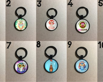 Cute Owls Handmade Keychains (10 to Choose from)