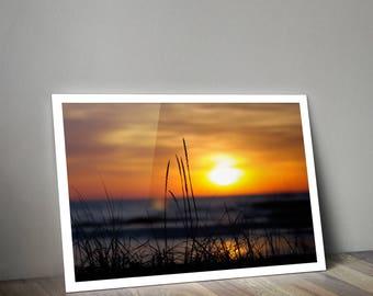 Perfect Lake Michigan Sunrise Landscape Silhouette Canvas Print