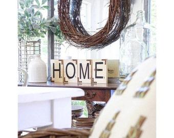 Wooden Scrabble Letters ~HOME~