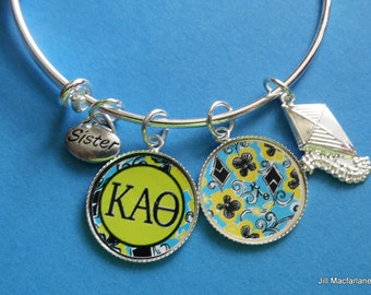 Kappa Alpha Theta Charm Bracelet, Big, Lil, Lilly Inspired