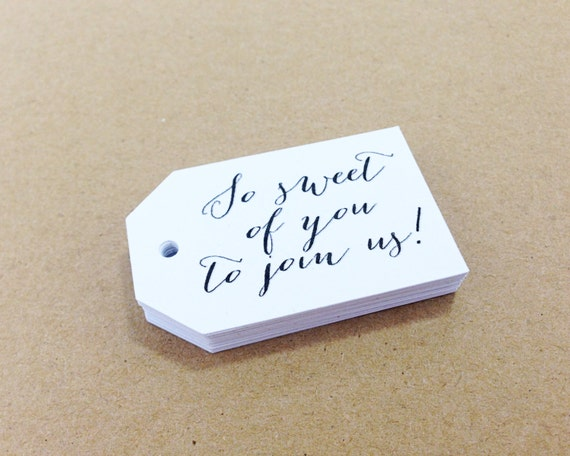 25 So Sweet Of You To Join Us! - 2.25 X 1.5 inch - Wedding, Bridal Shower, Bachelorette, Birthday, Favor Tag, Gift Tag, Thank you tag