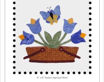 Tulip Basket appliqué block