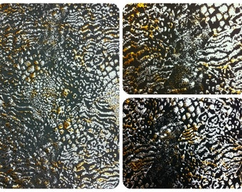 Wild Animal Print Metallic Foil on Stretch Lightweight Polyester Spandex Fabric - 58 to 60 Inches Wide - By the Yard or Bulk