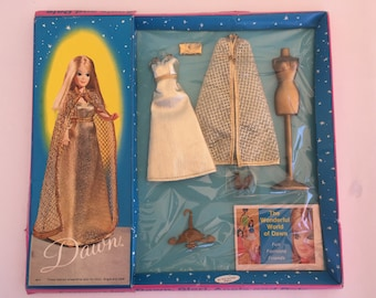 """Dawn Dolls Outfit # 0814 """"All That Glitters"""" in Near Mint Condition, in the Original Sealed Package, includes 1969 Dawn Catalog Booklet."""