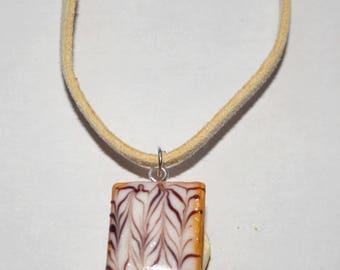 Yarrow realistic polymer clay necklace