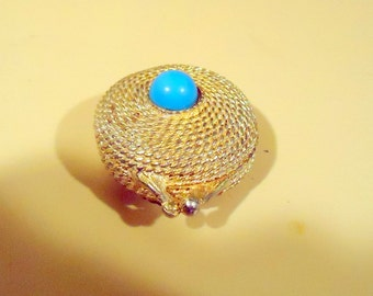 Estee Lauder Turquoise Carbachon Solid Perfume Compact