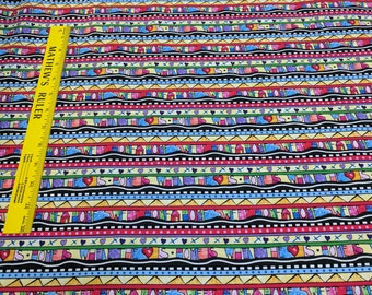 Home is Where the Heart Is-House Rows Cotton Fabric from Timeless Treasures