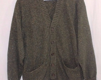 Gucci Cardigan 100% Cashmere Authentic Made in Italy Size Small Olive Green