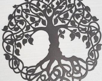 Tree Of Life, Celtic Design - Sparkling grey, 70 cm in Diameter (27,5 inches)