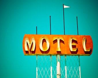 Mid Century Modern Motel Sign Print | Mid Century Modern Art | Neon Sign Print | Mid Century Modern Wall Art | Neon Sign Art | Motel Print