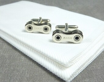 SRAM Sterling Silver Bicycle Chain Cufflinks