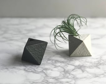 Black and White Ceramic Geometric Bud Vases