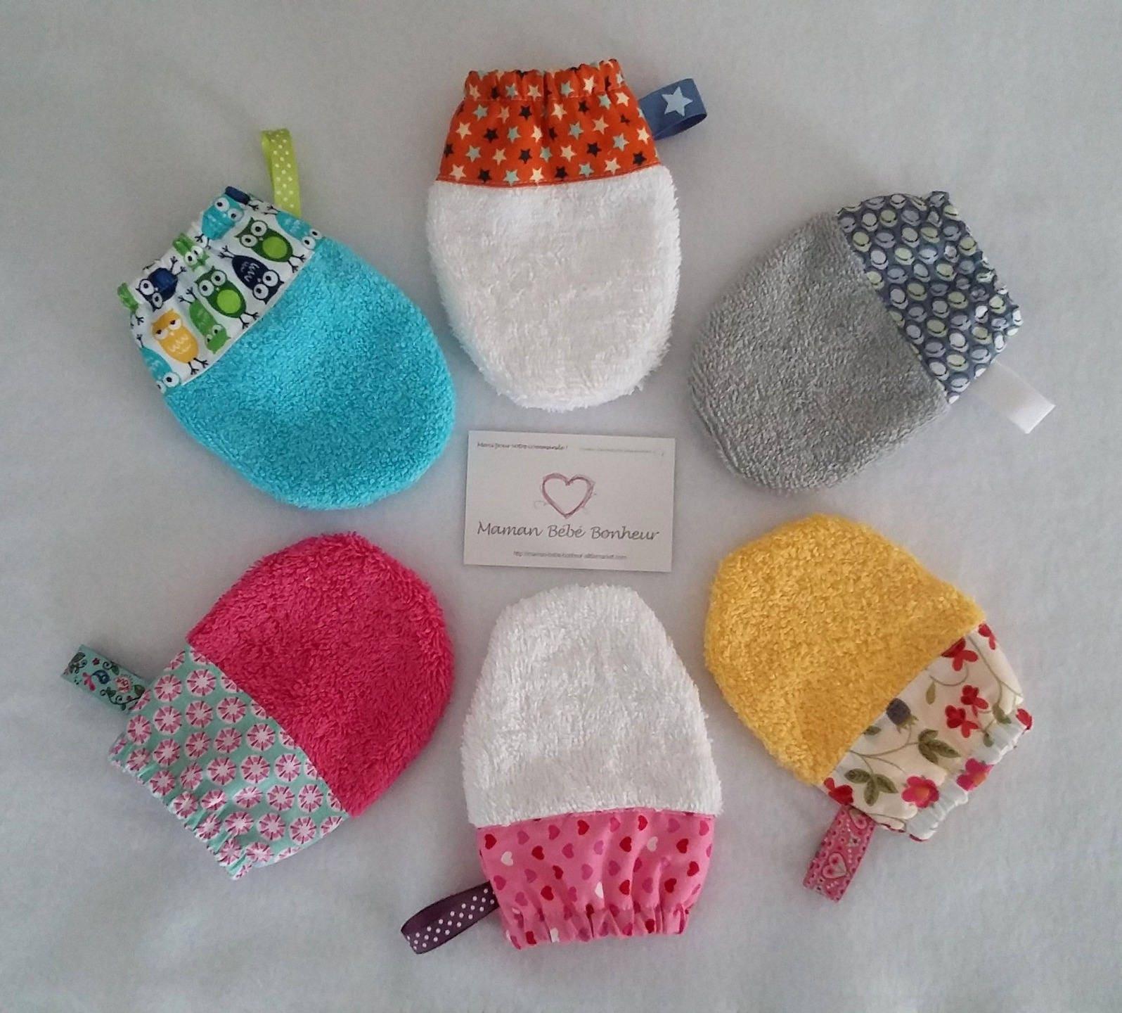 petit gant de toilette enfant lastiqu coloris au choix avec. Black Bedroom Furniture Sets. Home Design Ideas