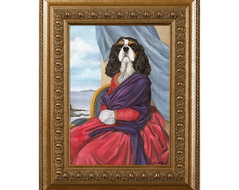Dog Magnet, Cavalier King Charles Spaniel Tara Refrigerator Magnet