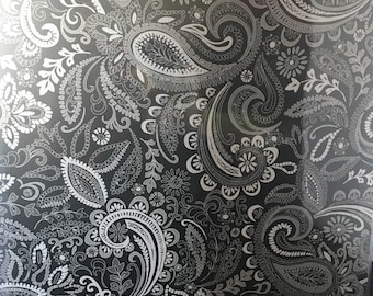 Black & White Paisley Scrapbook by Recollections 12x12