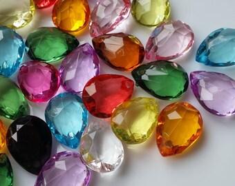 18 mm Teardrop Shape Acrylic Beads of Assorted Colors (.mca)