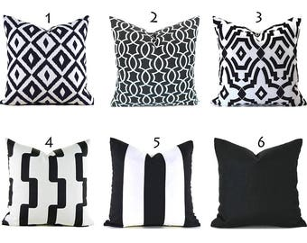 Black Outdoor Pillows ANY SIZE Outdoor Cushions Outdoor Pillow Covers Decorative Pillows Outdoor Cushion Covers Best Pillow OD You Choose