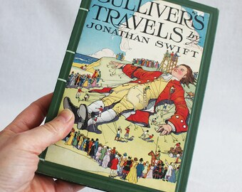Vintage Book Journal / Recycled Old Book / Gulliver's Travels Rebound Journal Blank Book by PrairiePeasant