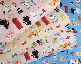 cotton - Poster cats fabric - 50cm