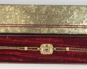 WWII U.S. Army Sweetheart Bracelet Mint in Original Box 10k Gold Filled