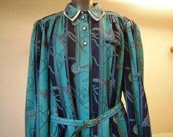 Elegant dress woman size 50/XL french 80s Vintage