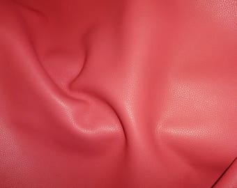 "Leather 12""x12"" BIKER CLASSIC CORAL top grain Cowhide 3.5 oz / 1.4 mm PeggySueAlso™ E2879-13 Full hides available"