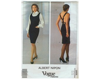 Vogue 2605 - Albert Nipon Misses' Dress - Jumper and Blouse Sewing Pattern  UNCUT