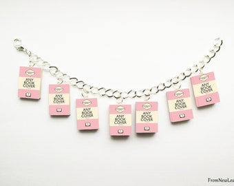 Custom Miniature Book Charm Bracelet