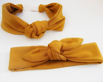 Headbands / ochre Headbands soft jersey, for small and large