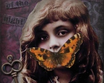 BURIED SECRETS altered art collage therapy abuse pain ACEO ATC PRINT