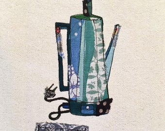 percolator print - blue.