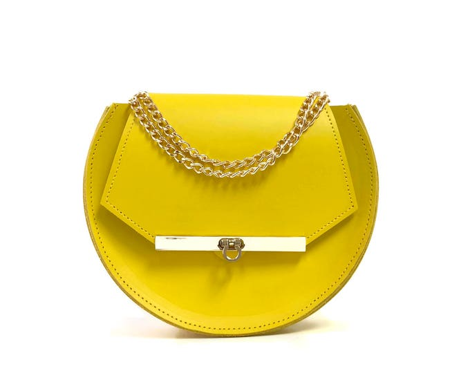 Featured listing image: Loel Mini Military Bee Crossbody Bag in Ceylon Yellow