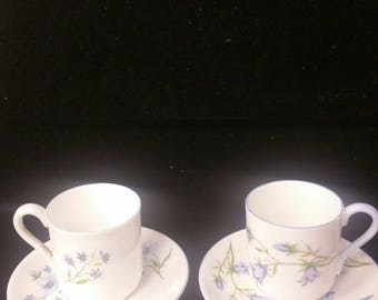 Rare Miniature Shelley England Tea Cup and Saucer Pair