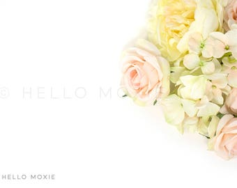 Styled Stock Photography , floral flatlay, flower flat lay image, floral stock photography, feminine stock photos