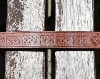 Viking Leather Torc Heathen Bracelet Norse Fenrir