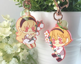 Fire Emblem: Fates - Corrin & Leo 5cm Rubber keychains