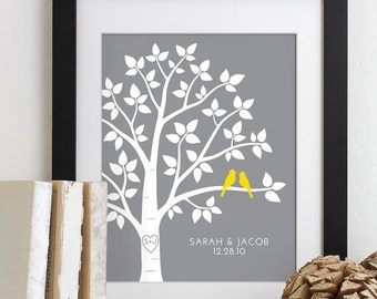 Valentines Day Wedding Gift for Couples, Anniversary Gift Newlywed Engagement Gift for Her Him Husband Wife Personalized Family Tree