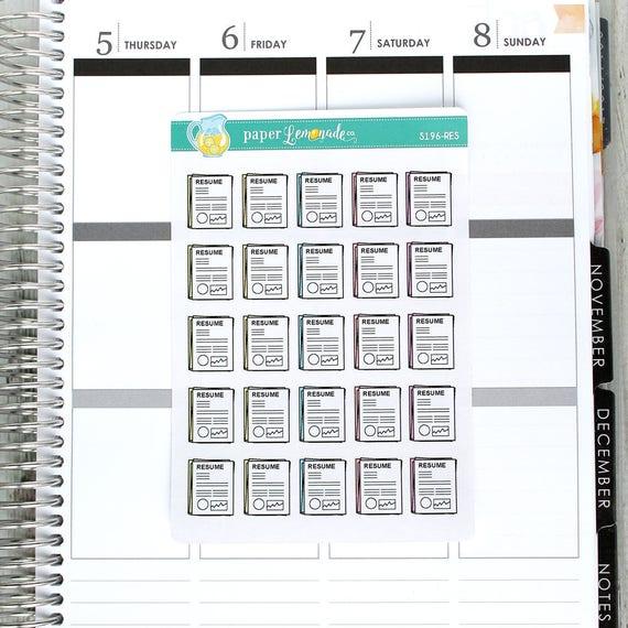 resume sticker interviewing sticker cv sticker sorting resumes