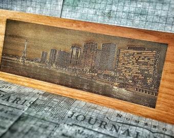 Engraved Paris Skyline