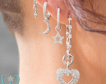 14KW Diamond Star - Hoop Earring Charm
