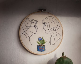 Little Shop of Horrors embroidery / Audrey 2 / 80's movie