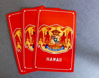 Vintage Deck of HAWAII ISLANDS Playing Cards/ Complete Deck in Original Box/ Vintage Travel Cards/ Hawaii Souvenir Cards/ Magician's Estate