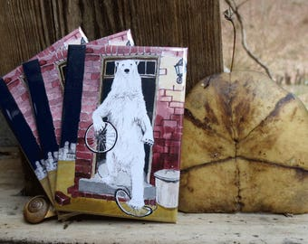 Polar Bear & Bicycle Magnet